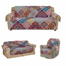 1/2/3 Seat Boho Chair Recliner Loveseat Sofa Cover Couch Sli