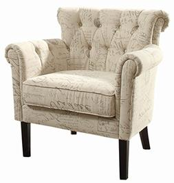 Homelegance Barlowe Fabric Flared Accent Chair, Vintage Prin