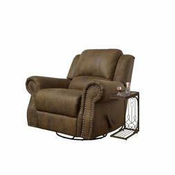 2 Piece Living Room Set with Recliner Chair and End Table