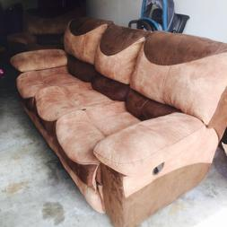 2 recliner couch with a lazy boy That Reclines Plus A coffee