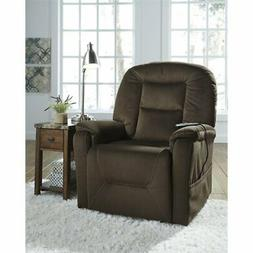 Ashley Furniture Power Lift Recliner in Coffee Finish 208011