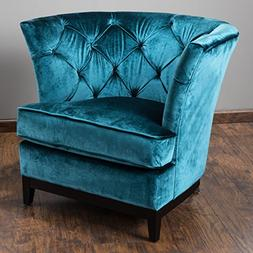 Great Deal Furniture Anabella | Velvet Button-Tufted Club Ch