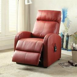 ACME Furniture 59406 Ricardo Recliner with Power Lift, Red P