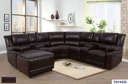 Lifestyle Furniture 5PC Living Room Recliner Sectional Couch