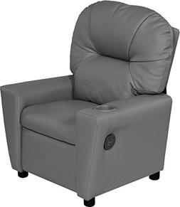 Relaxzen USB Charging Contemporary Kids Recliner with Cuphol