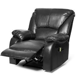 8 Point Massage Recliner Chair Sofa Home w/ Side Pocket&Remo