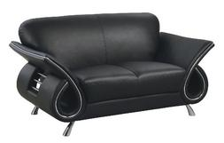 Global Furniture Clark Collection Leather Matching Love Seat