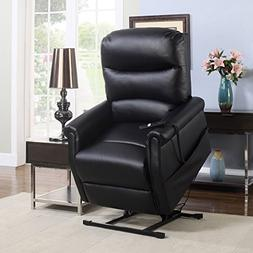 Madison Home Classic Plush Bonded Leather Power Lift Recline