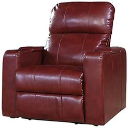 Pulaski Power Recliner with USB and STO, Cranberry