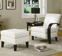 Roundhill Furniture Wonda Bonded Leather Accent Arm Chair wi