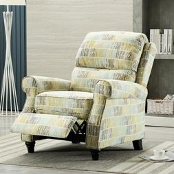 Accent Recliner Chair Fabric Push Back Armchair Thick Seat&B