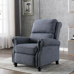 Accent Recliner Chair Roll Arm Push Back Armchair Lounge Sof