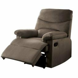 acme arcadia woven recliner in light brown