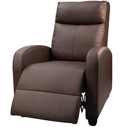 Devoko Manual Single Recliner Chair PU Leather Modern Living