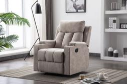 Air Fabric Recliner Chair  Living Room Lounge Heavy Duty wit