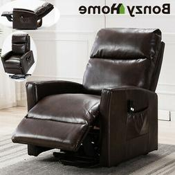 Air Leather Lift Power Recliner Chair Any Angel 3 Position w