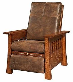 Amish Mission Arts & Crafts Mesa Recliner Accent Chair Solid