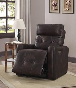AC Pacific Anna Collection Contemporary Leather Upholstered