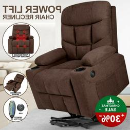 Auto Electric Power Lift Massage Recliner Chair Heat Vibrati