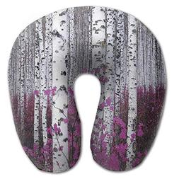 CuenNael Awesome Birch Soft U Type Pillow Neck Pillow Outdoo