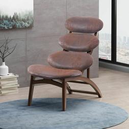 Aynslee Retro Reclining Microfiber Accent Chair