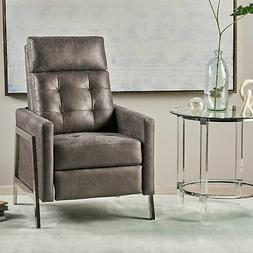 Baron Modern Tufted Microfiber Push Back Recliner with Stain
