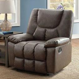 BIG Brown Leather Recliner Armchair Recliners Large Arm Chai