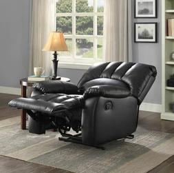 Big Man Recliners Clearance Chairs Men Women Black Faux Leat