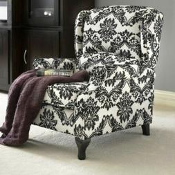 Black Floral Wingback Accent Recliner Reclining Chair Reclin