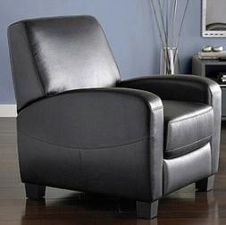 Black Leather Recliner Armchair Club Chair Office Furniture