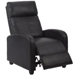 Black Modern Leather Single Recliner Chair Double Comfort an