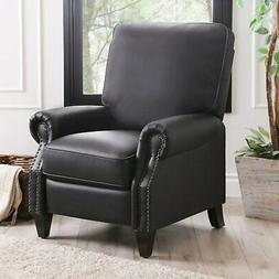 Braxton 100% bonded leather Pushback Recliner with high-dens