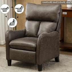 British Elegant Pusk Back Recliner Accent Chair Overstuffed