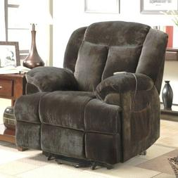 Brown Padded Back Power Lift Recliner Arm Chair Recliners Ch