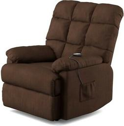 Brown Power Lift Wall Hugger Armchair Recliner Chair Recline