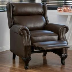 Brown PU Leather Wingback Recliner Arm Chair Recliners Armch