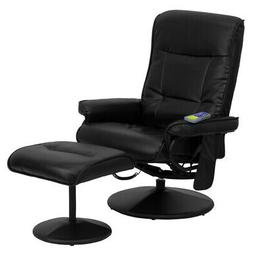 Flash Furniture BT-7320-MASS-BK-GG Massaging Black Leather R