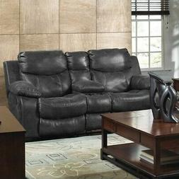 Catnapper Catalina Leather Power Reclining Console Loveseat