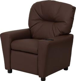 Flash Chair Kids Recliner Brown Leather with Cup Holder BT-7