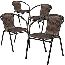 Furniture Chair Rattan Seating Restaurant Stack Indoor Outdo