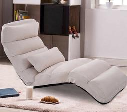 Chaise Lounge Chair Sleeper Lounger Faux Suede Indoor Study