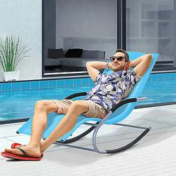 Chaise Rocker Patio Lounge Chairs Swing Recliner Relaxer w/
