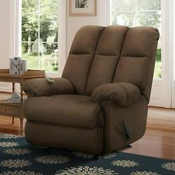 Recliner Chair Chocolate Massage Lazy Microfiber Padded Dual