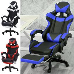computer gaming racing chair leather high back