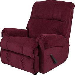 Flash Furniture Contemporary Kelly Burgundy Super Soft Textu