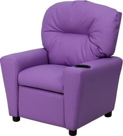 Flash Furniture Contemporary Lavender Vinyl Kids Recliner wi