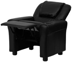 Flash Furniture Contemporary Leather Kids Recliner with Head