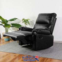 Contemporary Leather Recliner Chair Manual Couch Single Recl