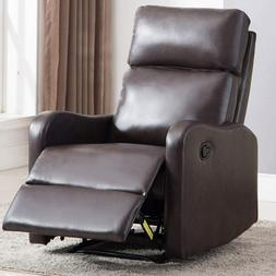 Contemporary Manual Recliner Chair  Living Room Lounge Sofa