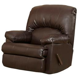 CONTEMPORARY TY CHOCOLATE LEATHER ROCKER RECLINER